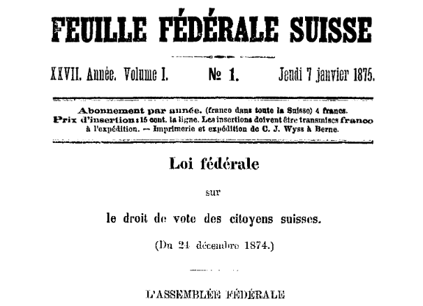Bundesgesez über die politische Stimmberechtigung der Schweizerbürger